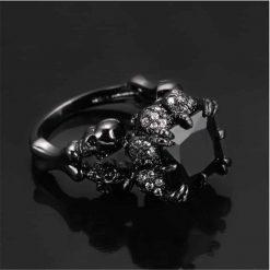 Black Skull Zircon Ring