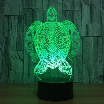 Lâmpada de ilusão 3D Sea Turtle