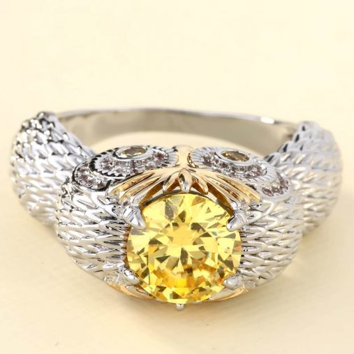 Champagne Owl Ring