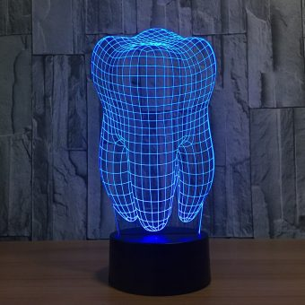 Tooth 3D Illusion Lamp