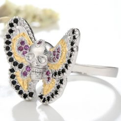 Ace Gems Butterfly Skull Ring jewel