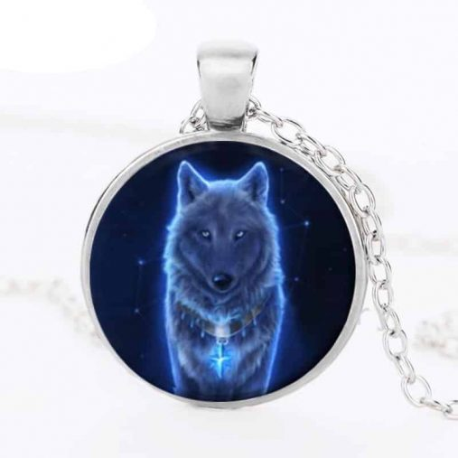 Wolf Glass Pendant