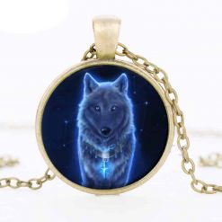 Wolf Glass Pendant