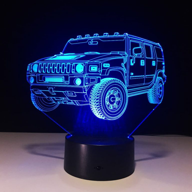 Hummer 3D Illusion Led Lamp