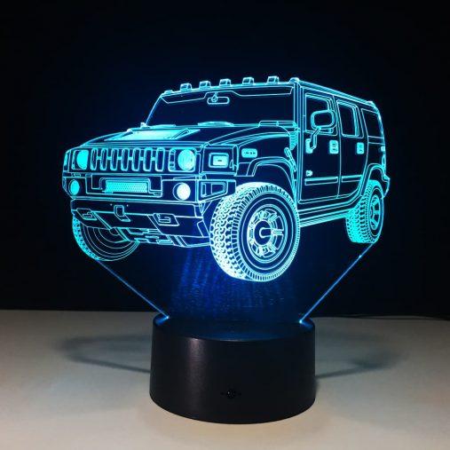 Hummer 3D Illusion Led Lamp