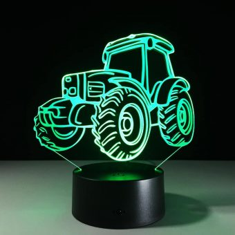 Traktor 3D Illusion Led Lampe