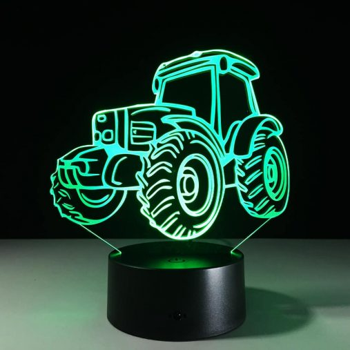 Tractor 3D Illusion Led Lamp