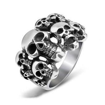 Schädel Biker Ring