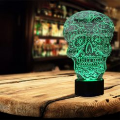 Sugar Skull 3D Illusion Led Lamp