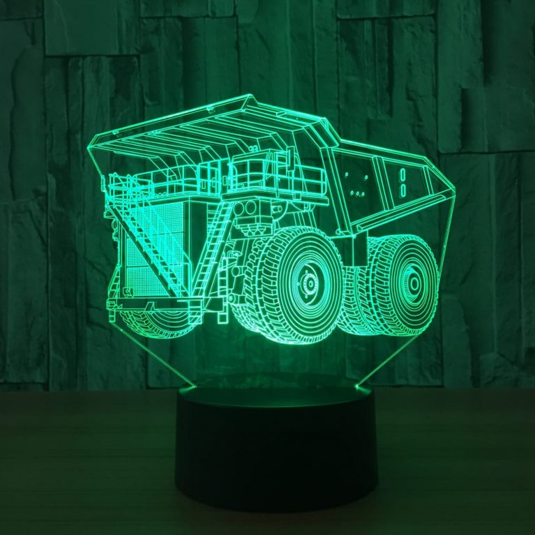 Haul Truck 3D Illusion Lamp