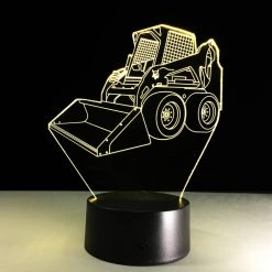 Skid-steer Loader 3D Illusion Lamp