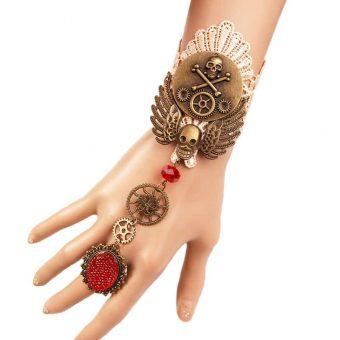 Steampunk Schädel Armband