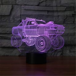 Jumping Truck 3D Illusion Lamp