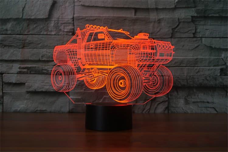 Jumping Truck 3D Illusion Lamp