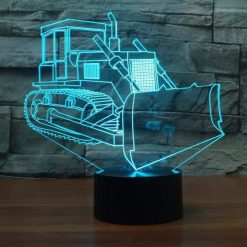 Crawler Bulldozer 3D Illusion Lamp
