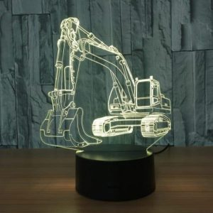 Excavator 3D Illusion Led Lamp