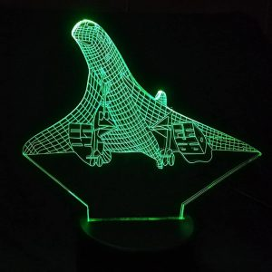 Concorde Supersonic transport 3D Illusion Lamp