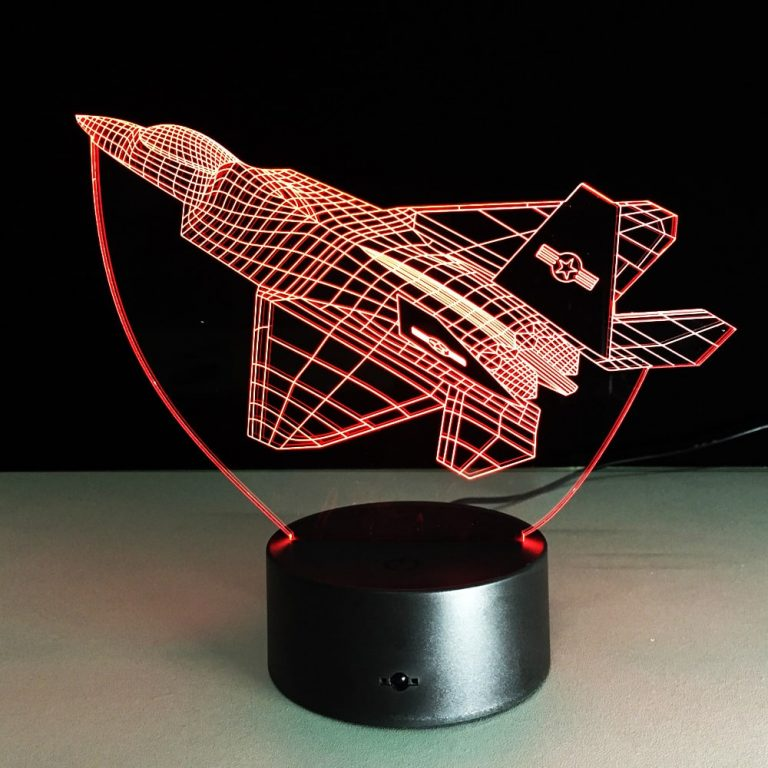 Fighter Aircraft 3D Illusion Lamp