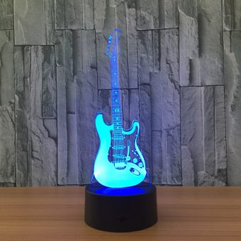 Electric Guitar 3D Illusion Lamp