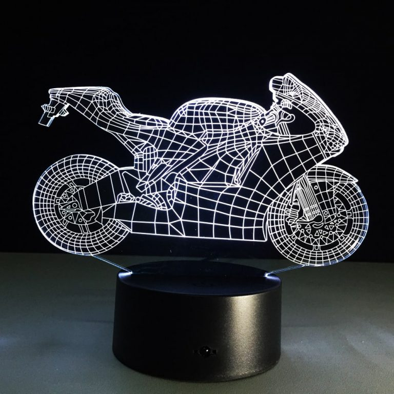 RVS Superbike 3D Illusion Lamp