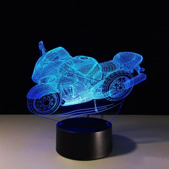 Superbike 3D Illusion Lamp