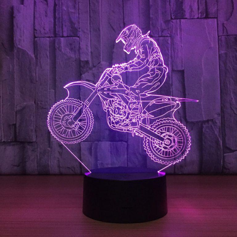 Motocross 3D Illusion Lamp