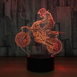 Motocross 3D Illusion Lamp