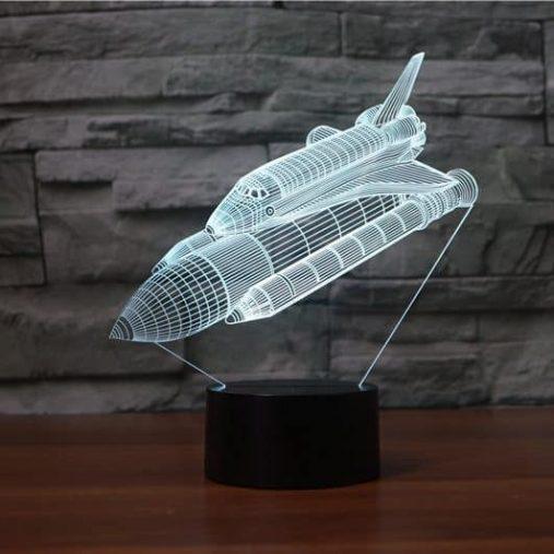 Space Shuttle 3D Illusion Lamp