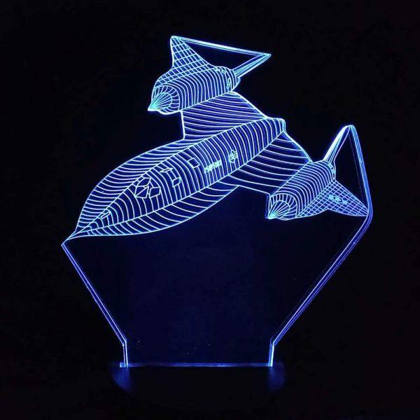 Lockheed SR-71 Blackbird 3D Illusion Led Lamp