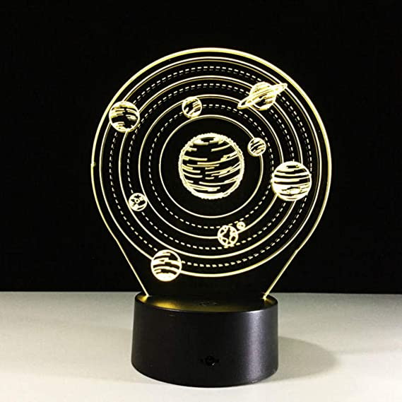 Solar System 3D Illusion Lamp