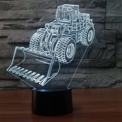 Wheel Loader 3D Illusion Led Lamp
