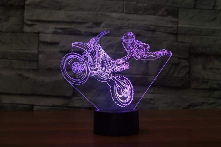 Motocross 3D Illusion Led Lamp