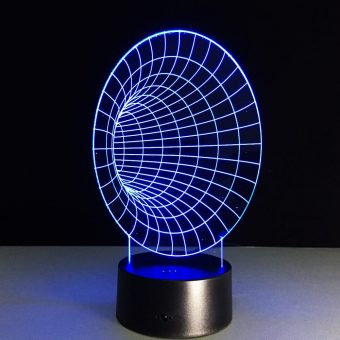 Space Tunnel 3D Illusion Lamp