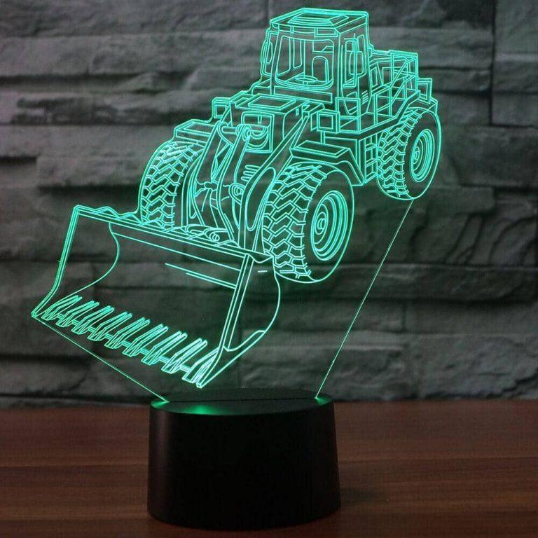 Wheel Loader 3D Illusion Led Lamp