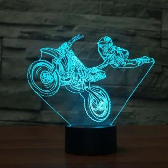 Motocross 3D Illusion Led Lamp