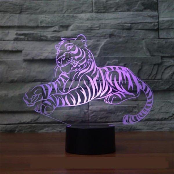 Tiger 3D Illusion Lamp