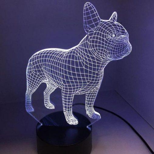 French Bulldog 3D Illusion Lamp
