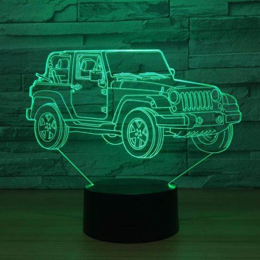 Wrangler 3D Illusion Led Lamp