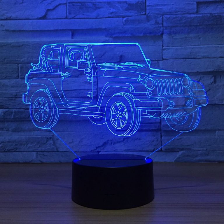 Wrangler 3D Illusion Led Lamp