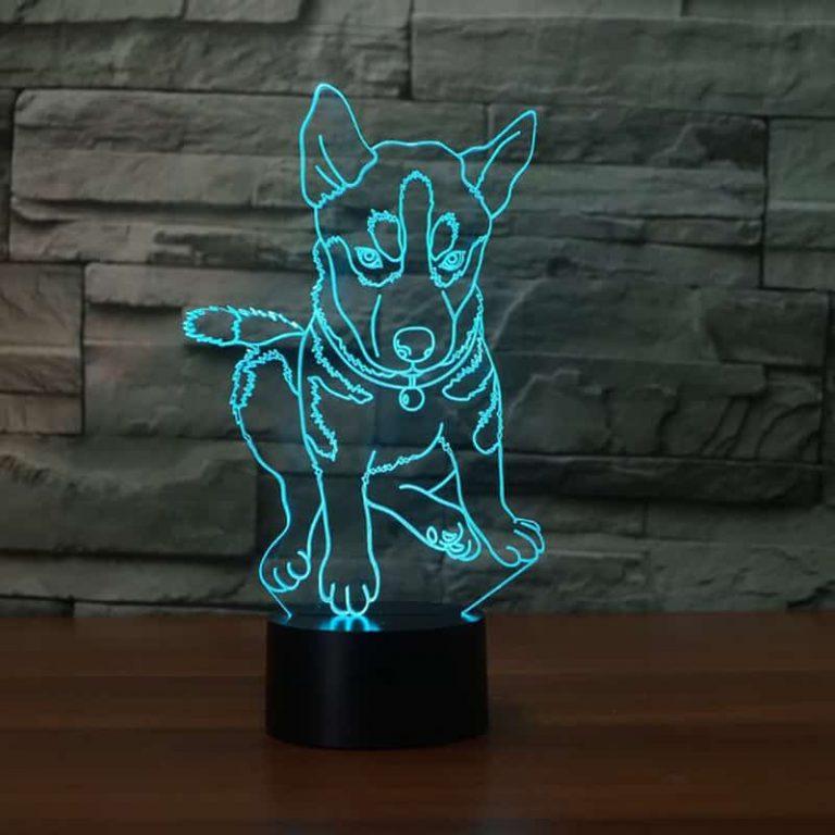 Husky 3D Illusion Led Lamp