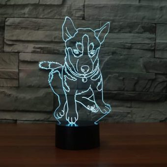 Husky 3D Illusion Led Lamp