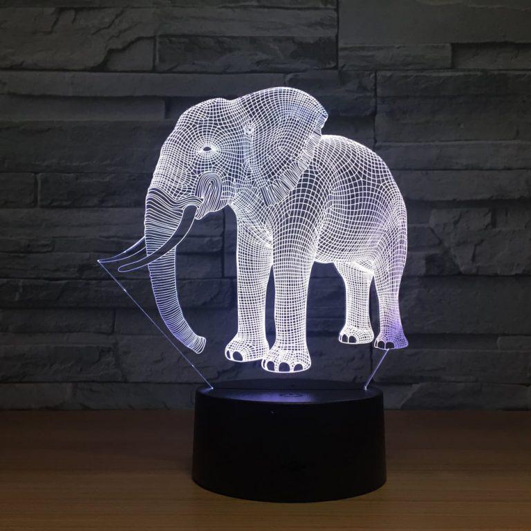 Elephant 3D Illusion Led Lamp 3