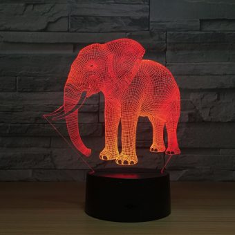 Elephant 3D Illusion Led Lamp 3