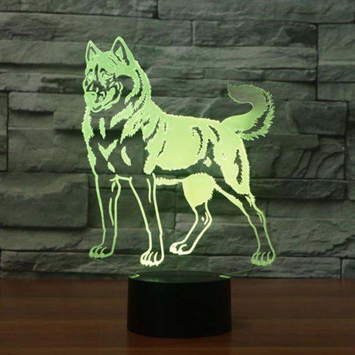 Husky 3D Illusion Led Lamp 2