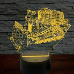 D9R Armored Bulldozer 3D Illusion Lamp