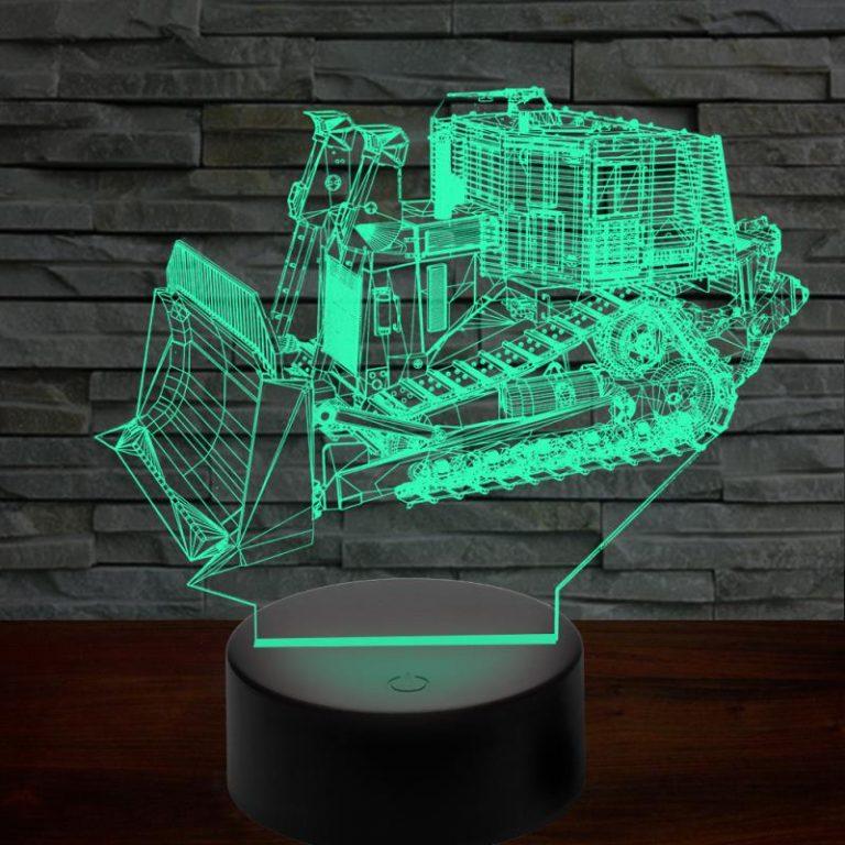 D9R Armored Bulldozer 3D Illusion Lamp