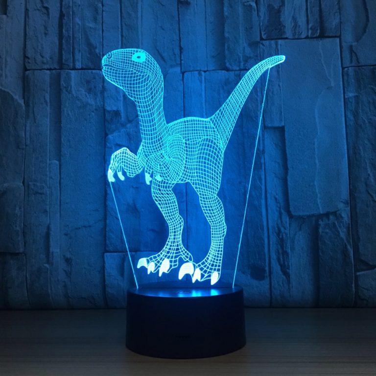 Velociraptor 3D Illusion Led Lamp