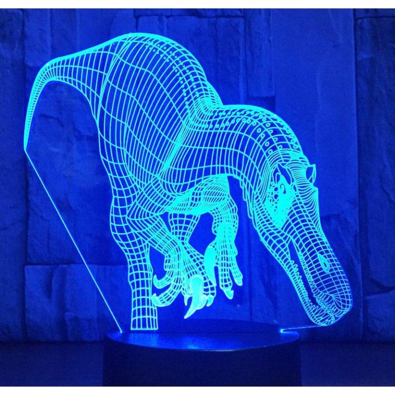 Carcharodontosaurus 3D Illusion Led Lamp