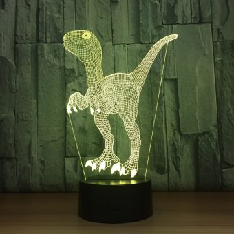 Velociraptor 3D Illusion Led Lamp