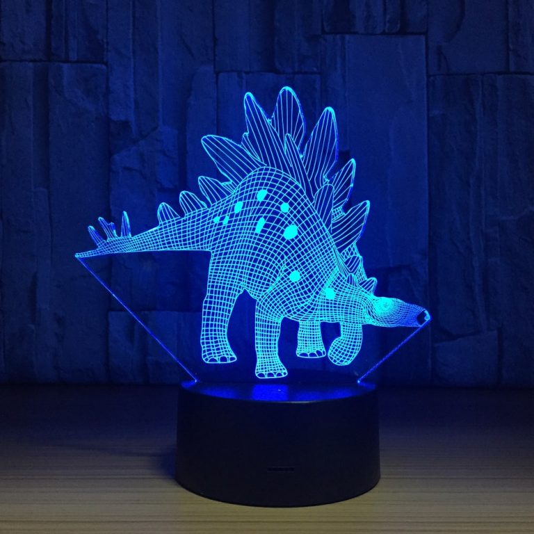 Stegosaurus stenops 3D Illusion Led Lamp
